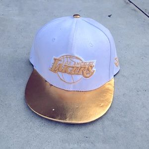 Vintage 9fifty Lakers white and gold hat